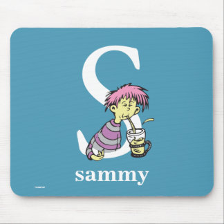 Dr. Seuss's ABC: Letter S - White | Add Your Name Mouse Pad