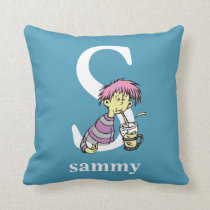 Dr. Seuss's ABC: Letter S - White | Add Your Name Throw Pillow