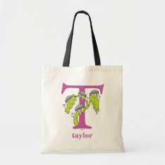 Dr. Seuss's Abc: Letter T - Purple | Add Your Name Tote Bag at Zazzle
