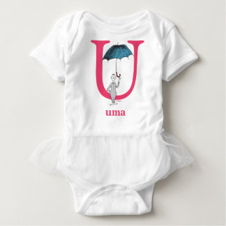 Dr. Seuss's ABC: Letter U - Pink | Add Your Name Baby Bodysuit