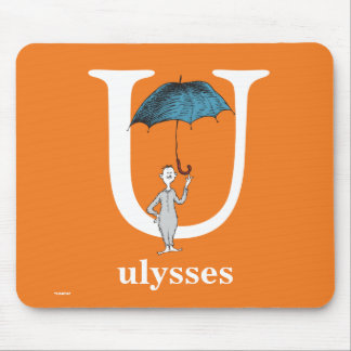 Dr. Seuss's ABC: Letter U - White | Add Your Name Mouse Pad