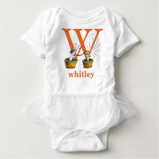 Dr. Seuss's ABC: Letter W - Orange | Add Your Name Baby Bodysuit