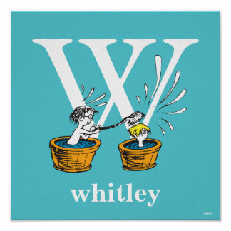 Dr. Seuss's ABC: Letter W - White | Add Your Name Poster