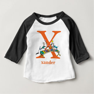 Dr. Seuss's ABC: Letter X - Orange | Add Your Name Baby T-Shirt