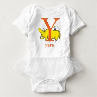 Dr. Seuss's ABC: Letter Y - Orange | Add Your Name Baby Bodysuit