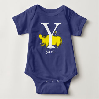 Dr. Seuss's ABC: Letter Y - White | Add Your Name Baby Bodysuit