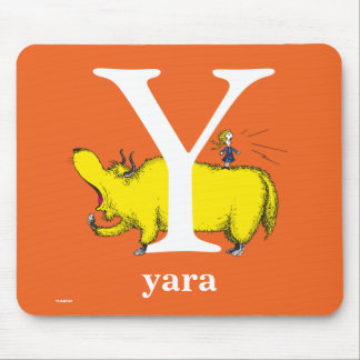 Dr. Seuss's ABC: Letter Y - White | Add Your Name Mouse Pad