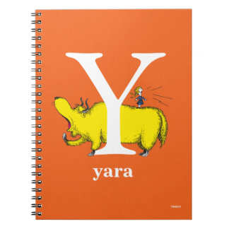 Dr. Seuss's ABC: Letter Y - White | Add Your Name Notebook