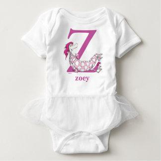 Dr. Seuss's ABC: Letter Z - Purple | Add Your Name Baby Bodysuit