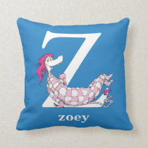 Dr. Seuss's ABC: Letter Z - White | Add Your Name Throw Pillow