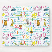 Dr. Seuss's ABC Pattern with Words Mouse Pad