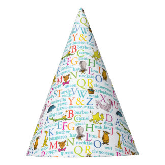 Dr. Seuss's ABC Pattern with Words Party Hat