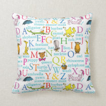 Dr. Seuss's ABC Pattern with Words Throw Pillow