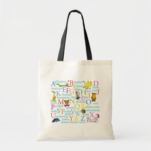 Dr Seusss ABC Pattern with Words Tote Bag
