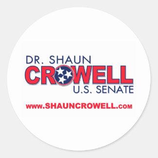 Dr. Shaun Crowell for U.S. Senate Classic Round Sticker