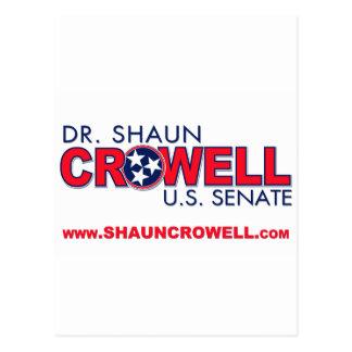 Dr. Shaun Crowell for U.S. Senate Postcard