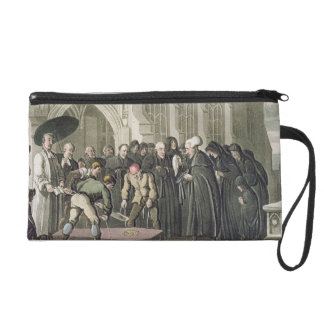 Dr Syntax at the Funeral of his Wife, from 'The To Wristlet Purse