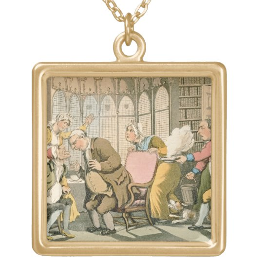 Dr Syntax in Danger, from 'The Tour of Dr Syntax i Gold Plated Necklace