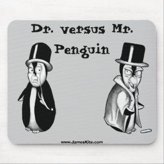 Dr. versus Mr. Penguin Mouse Pad