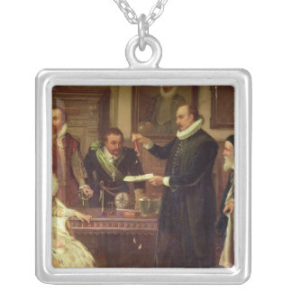 Dr William Gilberd Silver Plated Necklace