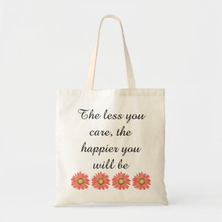 Draagtas satchel quotation less zorger happy tote bag