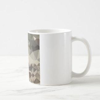 Drab Brown Blue Abstract Low Polygon Background Coffee Mug