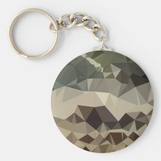 Drab Brown Blue Abstract Low Polygon Background Keychain