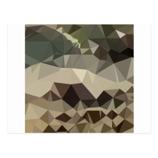 Drab Brown Blue Abstract Low Polygon Background Postcard