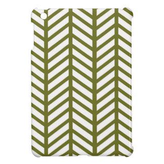 Drab Green Chevron Folders Cover For The iPad Mini