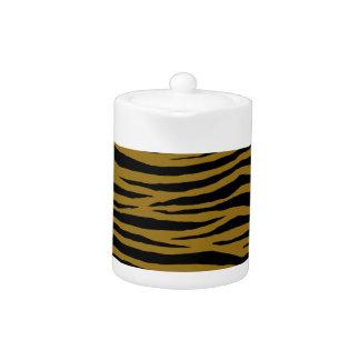 Drab Tiger Teapot