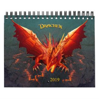 Dragon calendar, Dragon Calendar, (18cm x 14cm) Calendar
