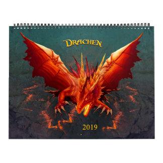Dragon calendar, Dragon Calendar, (36cm x 28cm) Calendar