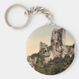 Drachenfels ruins, the Rhine, Germany classic Phot Keychains