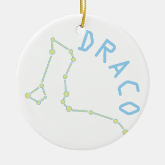 Draco Adorno Navideño Redondo De Cerámica