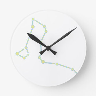 Draco Constellation Round Clock