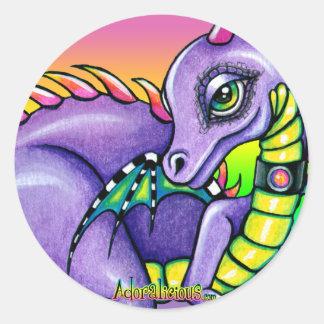 """Draco"" Cute Baby Rainbow Dragon Stickers"