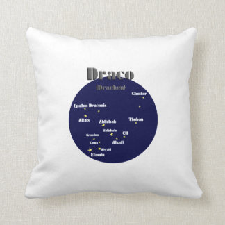 draco dark-blue throw pillow