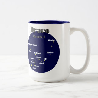 draco dark-blue Two-Tone coffee mug
