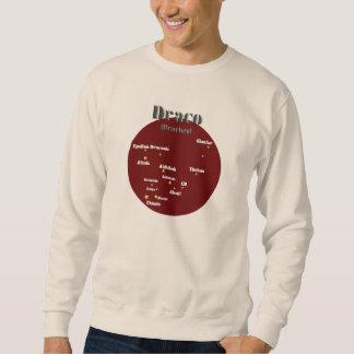 draco dark red sweatshirt