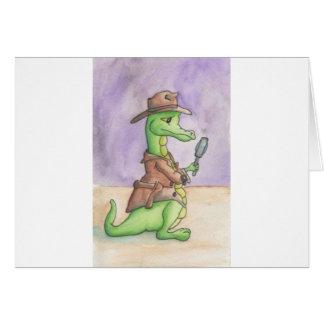 Draco detective tarjeta de felicitación