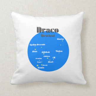 draco light blue throw pillow