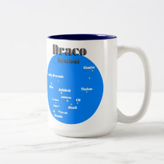 draco light blue Two-Tone coffee mug