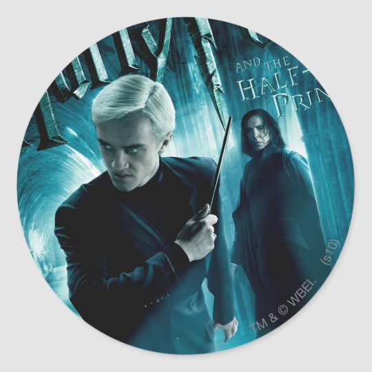 Draco Malfoy and Snape 1 Classic Round Sticker