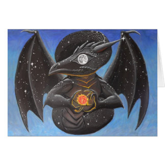 Draco Nocturne Greeting Card