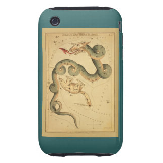 Draco the Dragon - Vintage Astronomical Star Chart Tough iPhone 3 Case