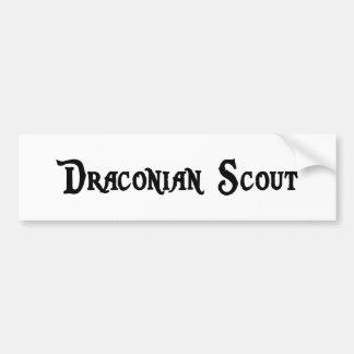 Draconian Scout Bumper Sticker
