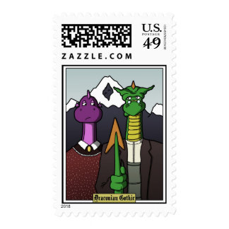 Draconican Gothic Postage Stamps