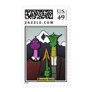 Draconican gótico timbres postales