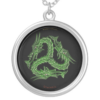Draconis Asian 3-Way Dragon Round Necklace