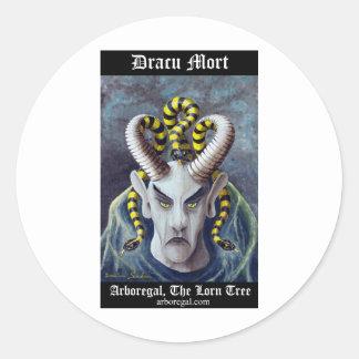 Dracu Mort T Bk Classic Round Sticker